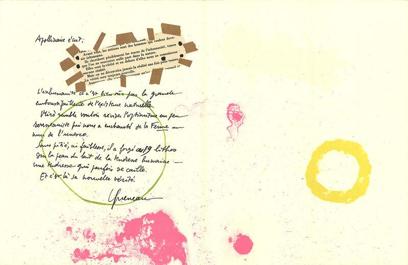 Joan Miró, 'Album 19 Original Lithographs Pages 7,8', 1961, Ephemera or Merchandise, Stone Lithograph, ArtWise