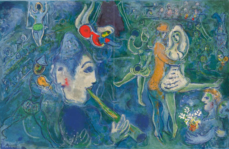 Marc Chagall, 'UNTITLED FROM THE CIRCUS', 1967, Print, Original lithograph printed in colors on Arches wove paper., Galerie d'Orsay