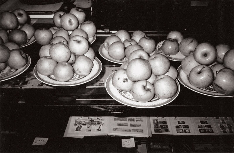 Andy Warhol, 'Six works: (i) Maggots; (ii) Unidentified Woman; (iii) Apples; (iv) Tables and Chairs; (v) Temple Gates; (vi) Hotel Room', 1982, Photography, Six gelatin silver prints, Phillips