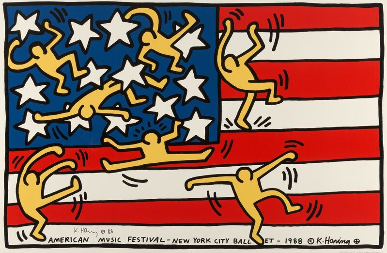 Keith Haring, 'American Music Festival-New York City Ballet', 1988, Print, Offset lithograph in colors on wove paper, Heritage Auctions