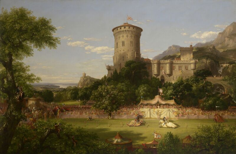 Thomas Cole, 'The Past', 1838, Painting, Oil on canvas, Mead Art Museum