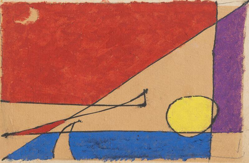 Osvaldo Licini, 'Studio per estasi', 1953, Painting, Oil on cardboard, Repetto Gallery