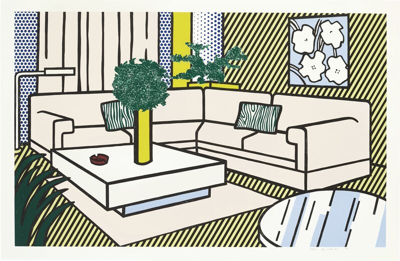 Roy Lichtenstein, 'Yellow Vase, from Interior Series', 1990, Print, Lithograph, woodcut and screenprint in colors, on Museum Board, Upsilon Gallery