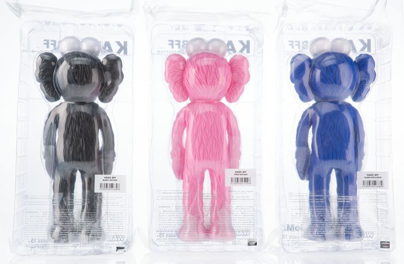 KAWS, 'BFF Companion (three works)', 2017, Sculpture, Painted cast vinyl, Heritage Auctions