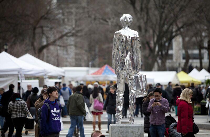 Rob Pruitt, 'The Andy Monument', Sculpture, Chromed, fiberglass reinforced polyester resin, concrete base., Public Art Fund