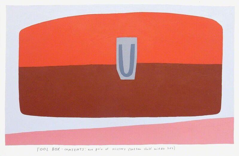 Kristin Texeira, 'tool box', 2017, Painting, Oil on paper, Uprise Art
