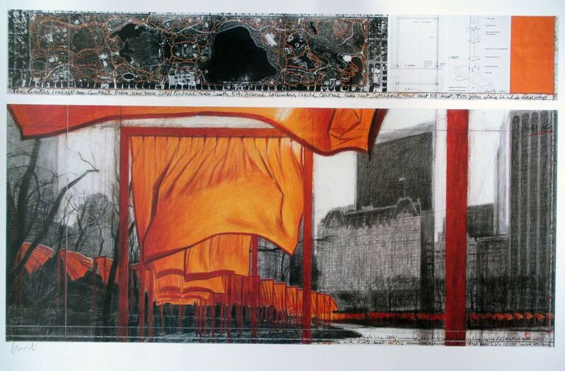 Christo and Jeanne-Claude, 'The Gates Project for Central Park, New York ', 2004, Print, Serigraph, Puccio Fine Art