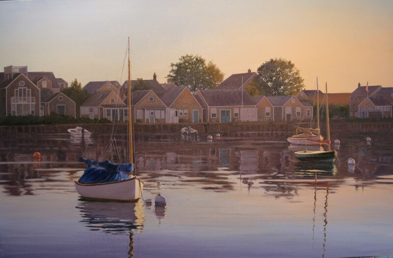 Sergio Roffo, 'Harborfront, Old North Wharf', 2013, Painting, Oil on canvas, Quidley & Company