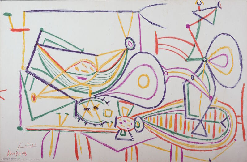 Pablo Picasso, 'Composition, 1948', 1948, Print, Lithograph, NCAG