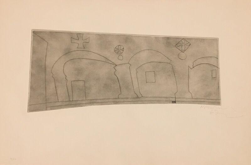 Ben Nicholson, 'Long Horizontal Patmos ', 1967, Print, Etching, Galerie Céline Moine & LGFA
