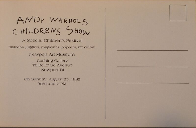 Andy Warhol, 'Andy Warhol´s Children´s Show', 1985, Ephemera or Merchandise, Offset lithograph on paper, Bengtsson Fine Art
