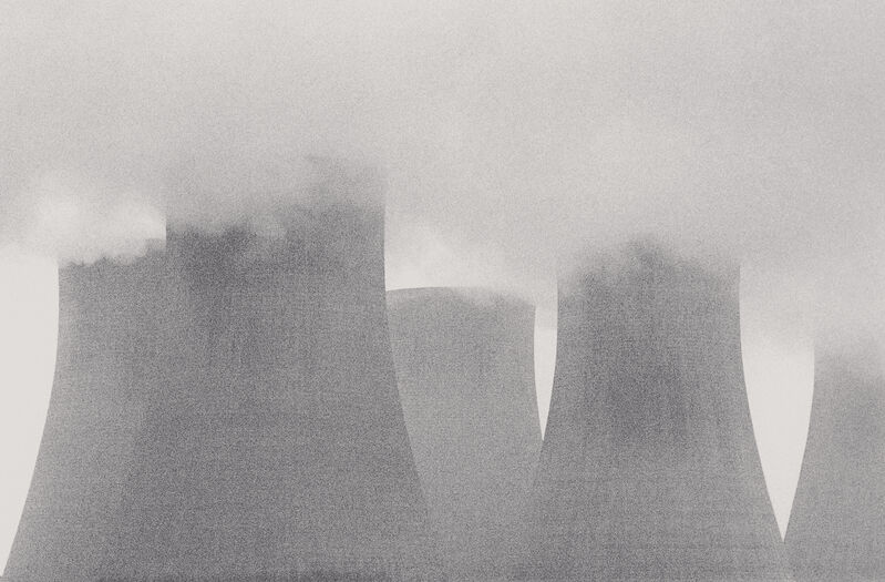 Michael Kenna, 'Ratcliffe Power Station, Study 22, Nottinghamshire, England, 1984', 1984, Photography, Sepia-toned silver gelatin print mounted to archival substrate, Bau-Xi Gallery
