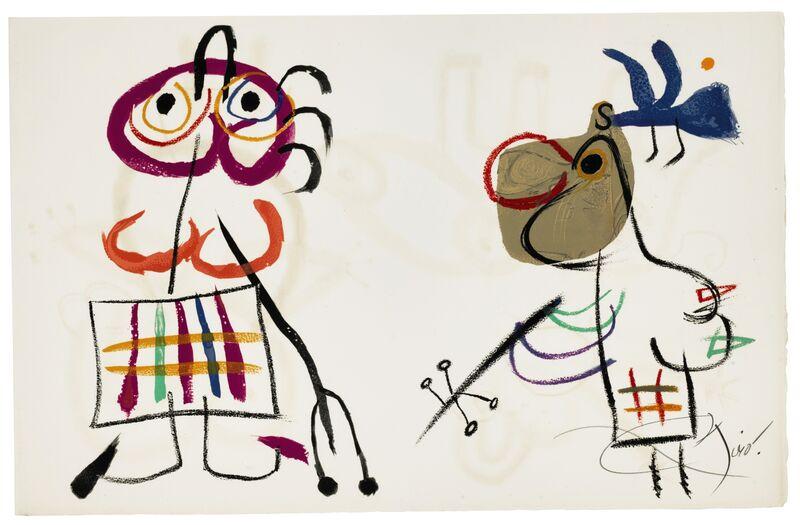 Joan Miró, 'L'Enfance d'Ubu, Tériade, Paris', 1975, Print, The complete set of twenty signed lithographs in colors, on Arches paper, Christie's