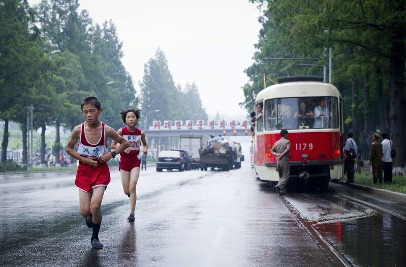 Ari Hatsuzawa, 'Pyongyang City Marathon', 2012, Photography, Museum of Contemporary Photography (MoCP)