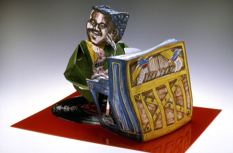Red Grooms, 'Fats Domino', 1984, Print, Color 3-D lithograph, Shark's Ink.