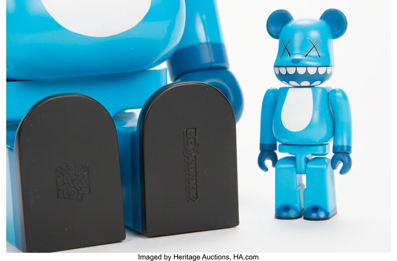 KAWS, 'Chompers BE@RBRICK 400% and 100% (two works)', 2003, Other, Painted cast vinyl, Heritage Auctions