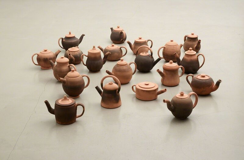 Rolf Nowotny, 'Terraform', 2013, Installation, Red clay and assorted teas;20 individual pieces. Heights between 12 and 25 cm, Christian Andersen