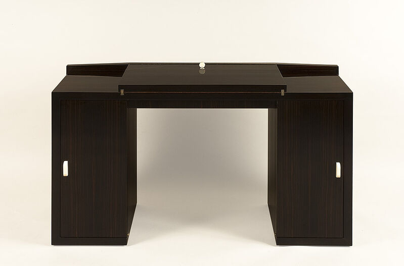 Paul Dupré-Lafon, 'System desk', ca. 1930, Design/Decorative Art, Macassar ebony and birdseye maple, ivory handles, Galerie Anne-Sophie Duval