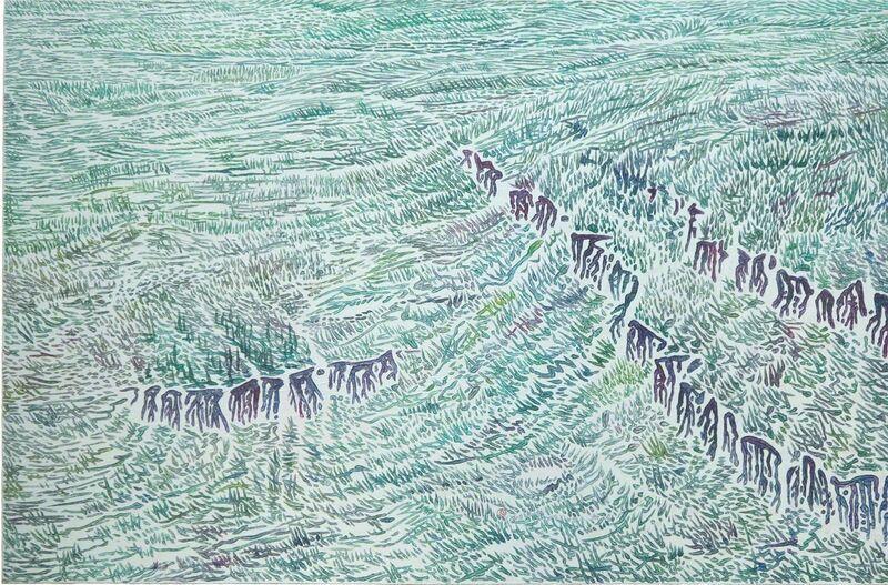 Jun Xue, 'Rift-5', 2017, Painting, Oil on canvas, Aye Gallery