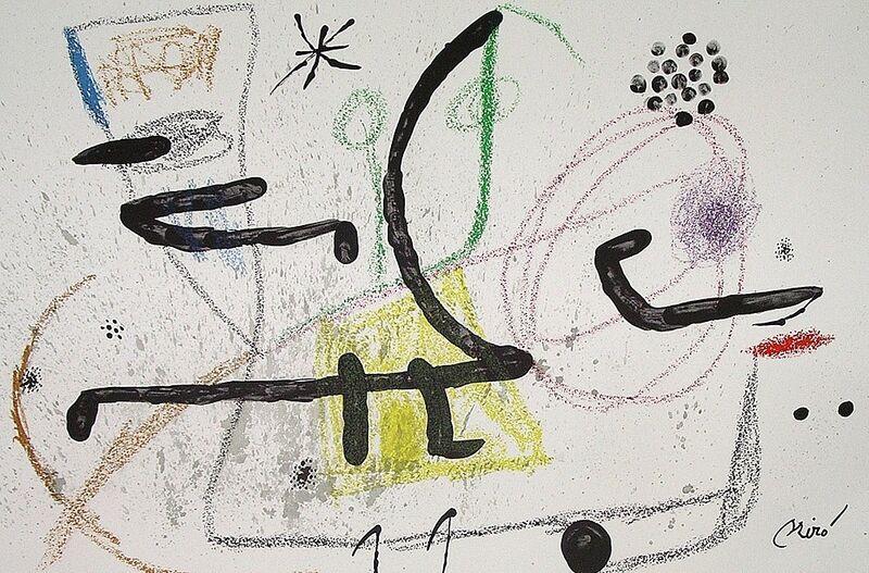 Joan Miró, 'Maravillas con variaciones acrósticas en el jardín de Miró IX', 1975, Print, Lithograph on Gvarro paper, ARTETRAMA