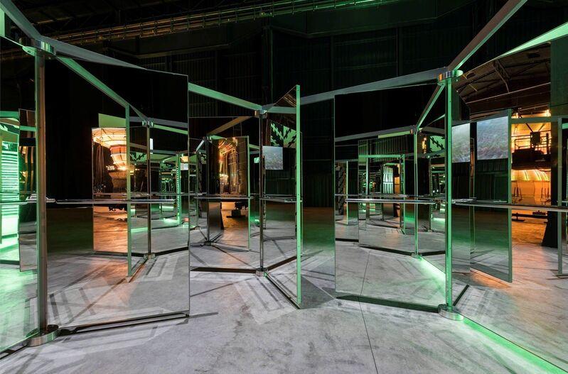 Carsten Höller, 'Revolving Doors', 2016, Sculpture, Mirrored revolving glass doors, aluminum, alucobond, steel, Gagosian