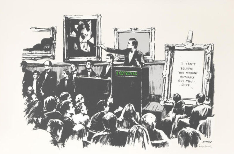 Banksy, 'Morons (White)', 2006, Print, Screenprint on paper, Taglialatella Galleries