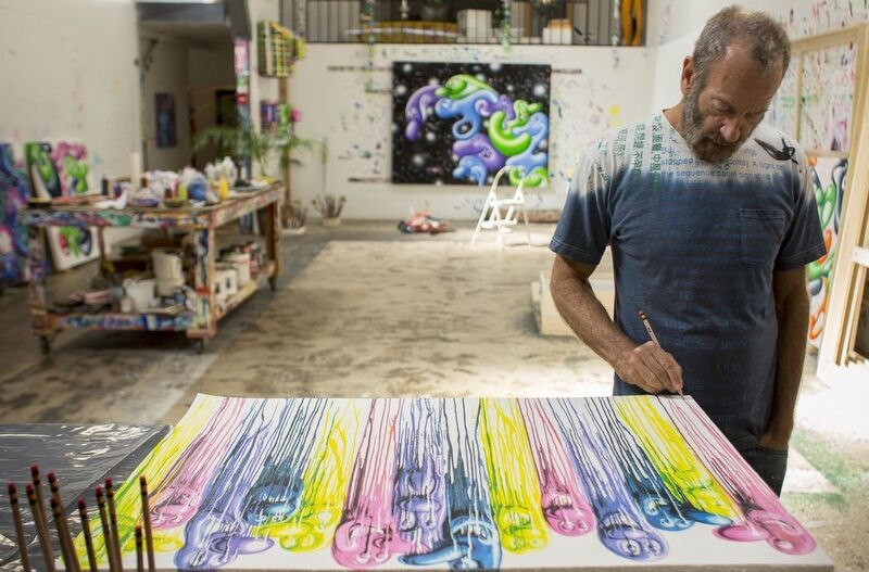 """Kenny Scharf, 'Sloppy Melt ', 2018, Print, Lithograph 8 colors and glitters """"Angel Dust"""" printed with Marinoni press lithographic and hand cut., End to End Gallery"""