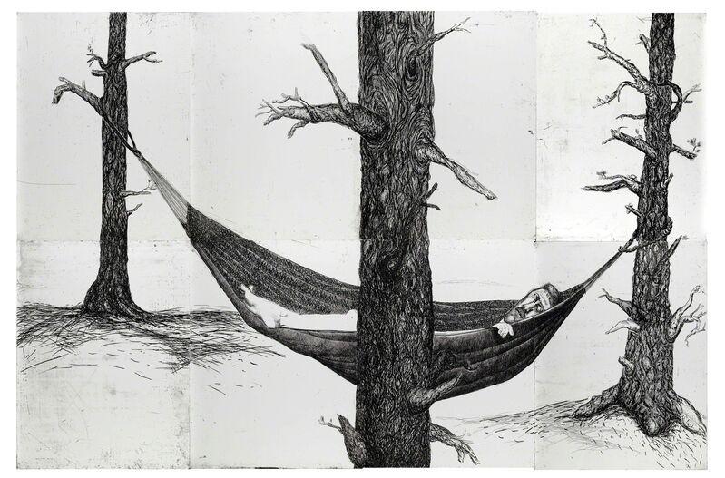 Daniel Heyman, 'Summer: Artist Sleeps', 2010, Print, Etching, drypoint, Cade Tompkins Projects
