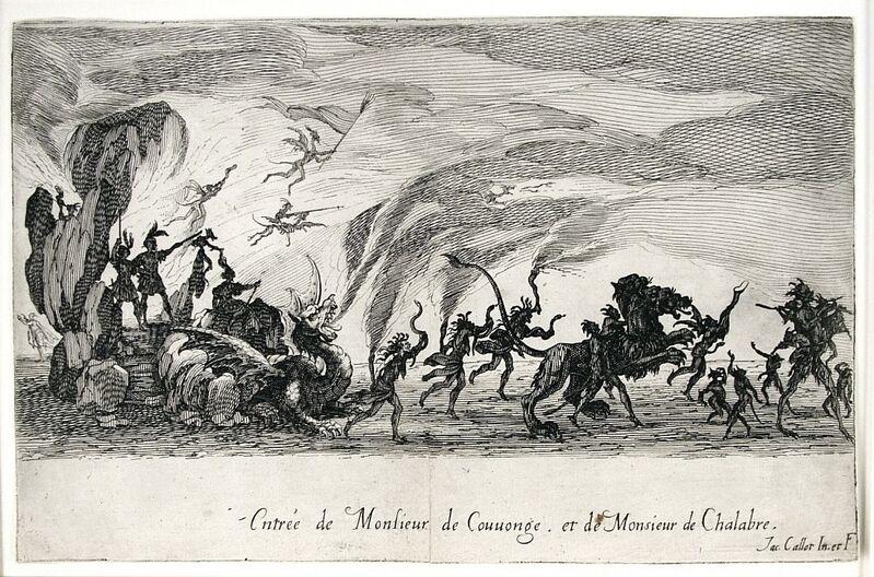 Jacques Callot, 'Le Combat a La Barriere (The Combat at the Barrier)', 1627, Print, Etching, Harris Schrank Fine Prints