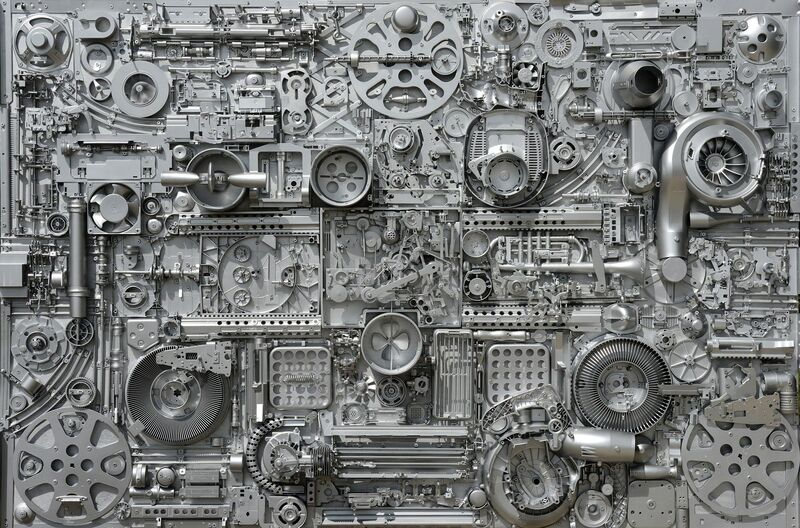 Daniel Motz, 'Untitled 9', Sculpture, Mechanical Elements and Mixed Media on Panel, Bill Lowe Gallery