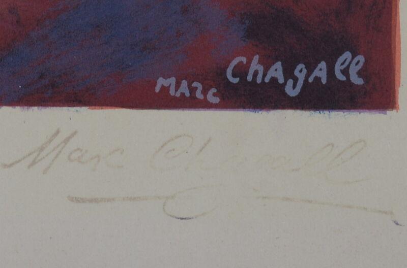 Marc Chagall, 'Bonjour Paris ', 1972, Print, Original Lithograph in Colors on Wove Paper, NCAG