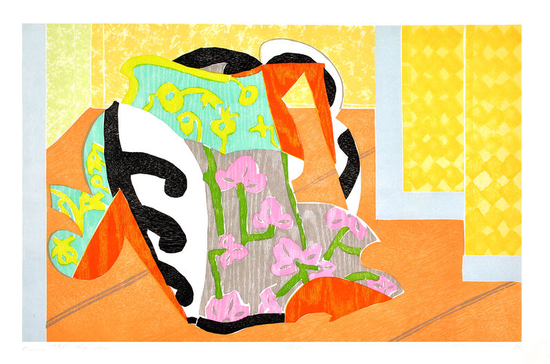 Betty Woodman, 'Kimono Still Life Vase', 1992, Print, Color woodcut/monotype with chine collé, Shark's Ink.