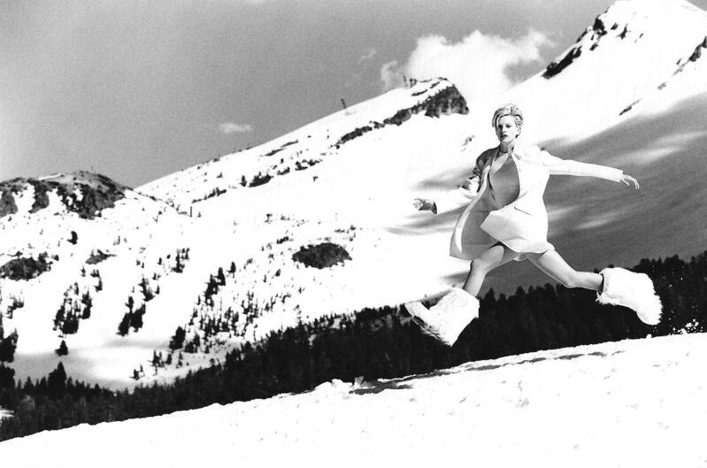 Arthur Elgort, 'Kristen McMenamy, Mammouth Lake, California, VOGUE', 1995, Photography, Gelatin Silver Print, Staley-Wise Gallery