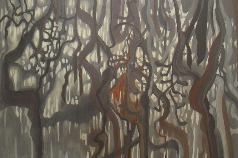 """Raphael Bianco, 's/ título - série """"Jardim Suspenso""""', 2015, Painting, 0,70 x 2,20m, Matias Brotas"""
