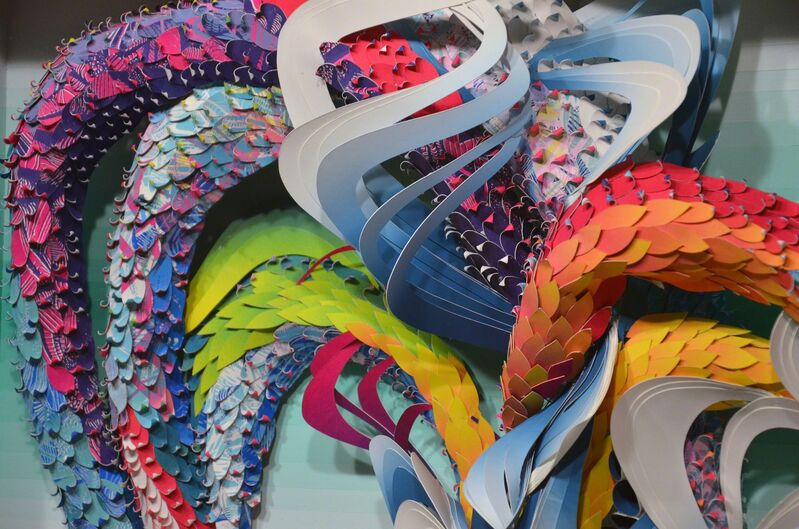 Crystal Wagner, 'Spectrum: Bio Interloper I', 2014, Drawing, Collage or other Work on Paper, Screen print, relief print, cut paper, wood, paint, wire, Hashimoto Contemporary