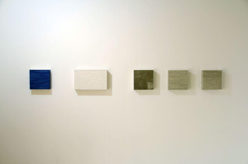 Masayuki Tsubota, 'the wall of self_idgswtfigl2 ', 2014, Sculpture, Gesso, powdered mineral pigments, glue on basswood, tin foil, Gallery LVS