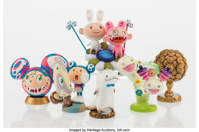 Takashi Murakami, 'Superflat Museum (set of six)', 2005, Other, PVC figures, Heritage Auctions