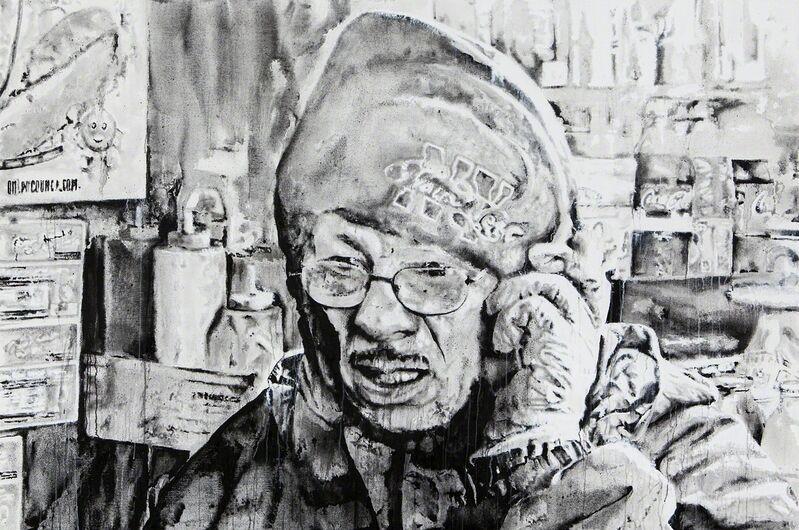 Hendrik Beikirch, 'west49thstreet', 2014, Painting, India ink, spray paint, acrylic on canvas, Ruttkowski;68