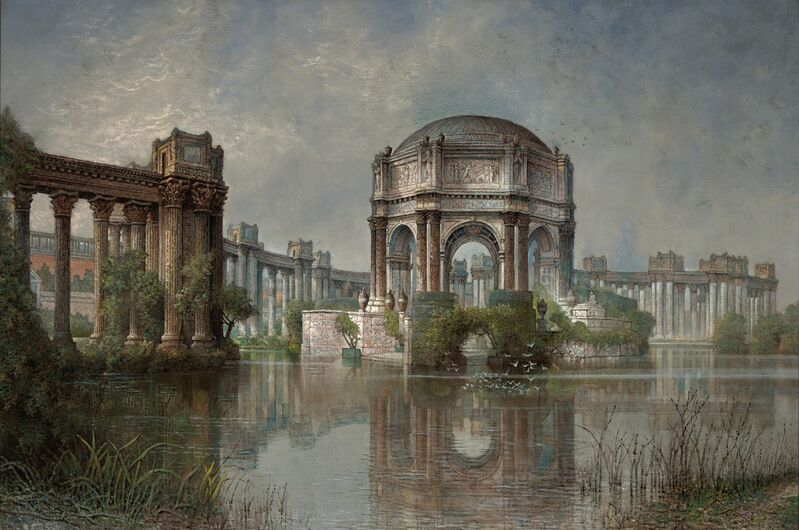 Edwin Deakin, 'Palace of Fine Arts and the Lagoon', 1923, Painting, Oil on canvas, de Young Museum