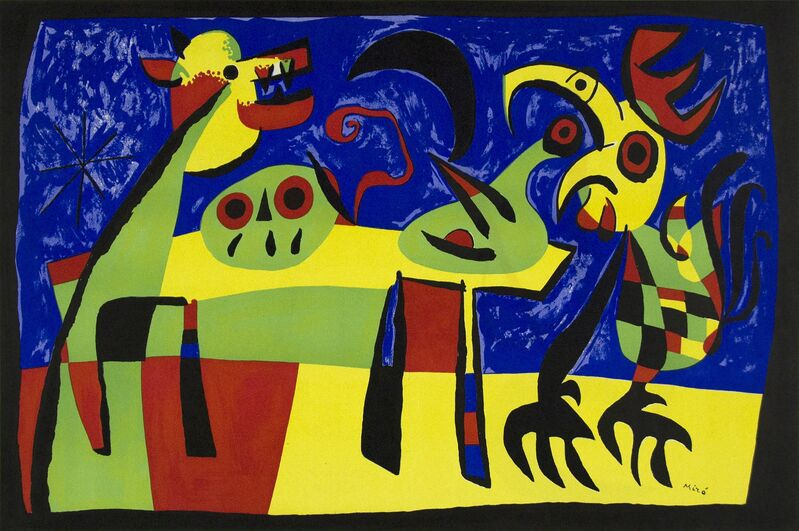 Joan Miró, 'Dog Barking at the Moon', 1952, Print, Original lithograph, Heather James Fine Art Gallery Auction