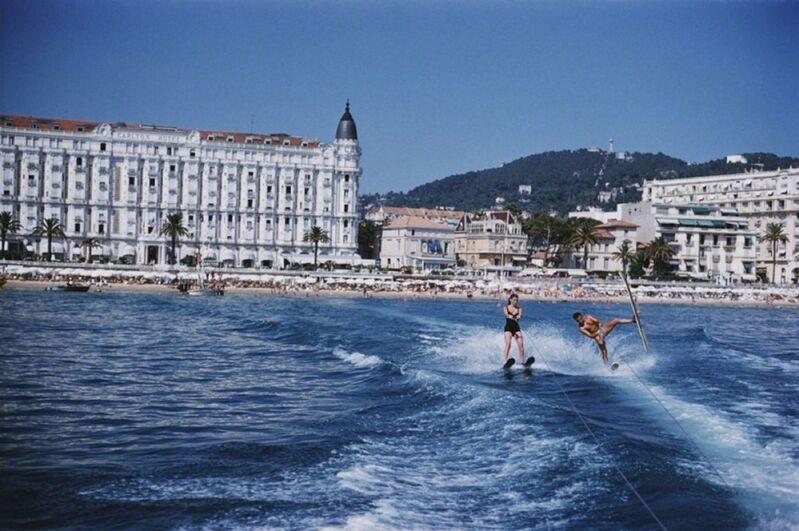 Slim Aarons, 'Cannes Watersports, Carlton Hotel', 1958, Photography, Lambda C-Print, IFAC Arts