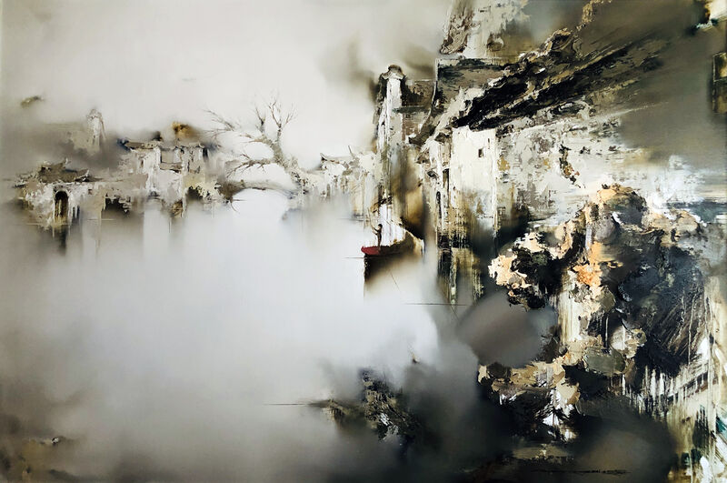 Gao Xiao Yun 高小云, 'A Sense of Antiquity 笙香风影', 2021, Painting, Oil on canvas, Art WeMe Contemporary Gallery