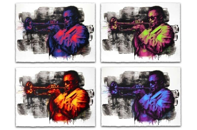 Mr. Brainwash, 'Miles Davis (set of 4)', 2015, Print, Screenprints, Carroll Art