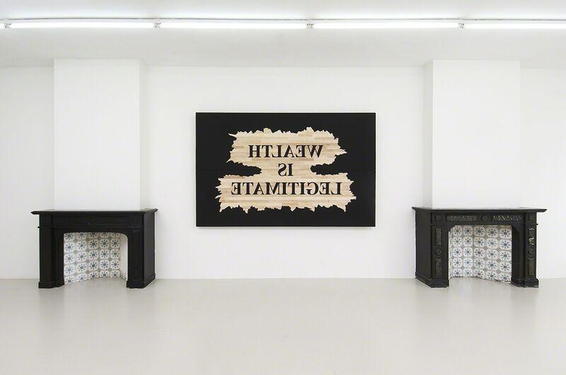 Nasan Tur, 'Wealth is legitimate', 2014, Print, Wood printing plate, West Den Haag