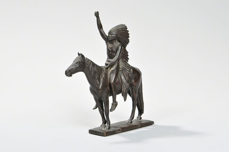 Cyrus Edwin Dallin, 'Signal of Peace (Possibly a Later Cast)', Sculpture, Bronze with dark brown patina, Skinner