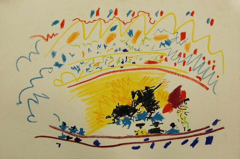 Pablo Picasso, 'Untitled VI', 1949, Reproduction, Color lithograph on Arches paper, Baterbys