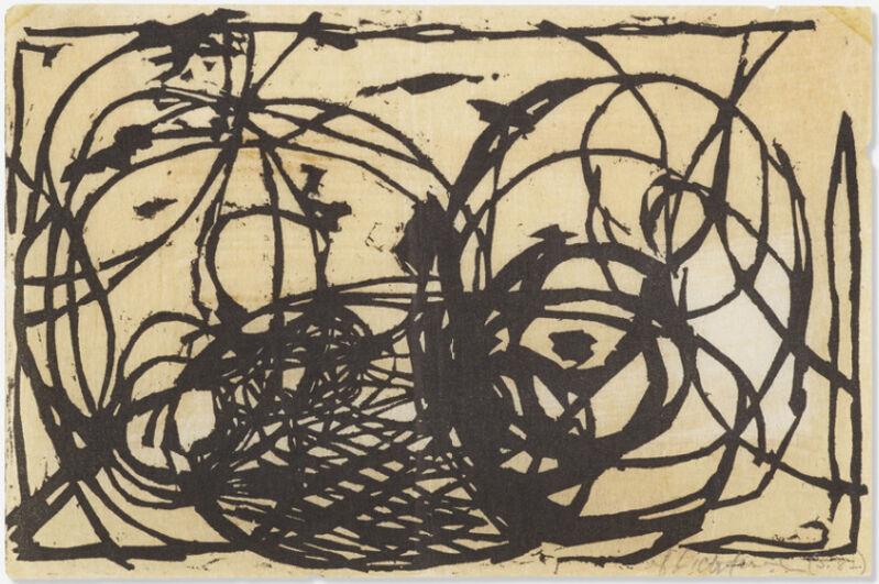 "Roy Lichtenstein, 'Untitled (Illustration for ""Polemic"" Magazine III.1)', 1957, Print, Woodcut on Mulberry paper, DANE FINE ART"