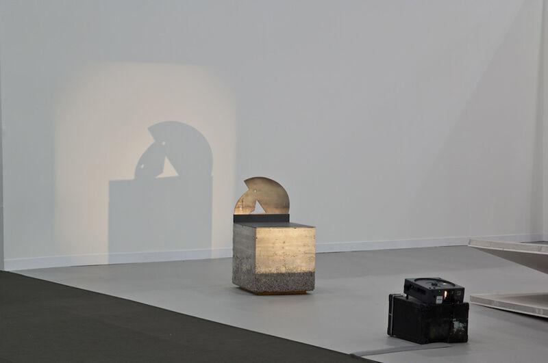 Asier Mendizabal, 'Untitled (Benta Handi)', 2009, Installation, Steel, concrete, projected light and framed colour prints, Anthony Reynolds Gallery
