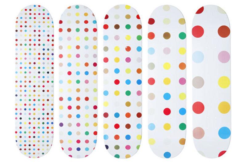 Damien Hirst, 'Set of Five Supreme Skateboards', 2009, Ephemera or Merchandise, Skateboard decks, Remes Advisory