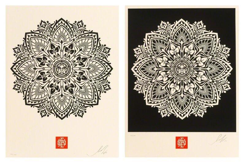 Shepard Fairey, 'Mandala Ornament (set of 2)', 2010, Print, Screenprint, artrepublic